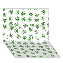Marijuana Pattern I Love You 3D Greeting Card (7x5)