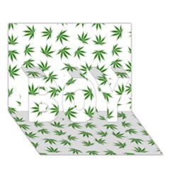 Marijuana Pattern BOY 3D Greeting Card (7x5)