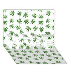 Marijuana Pattern HOPE 3D Greeting Card (7x5)