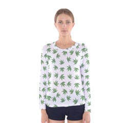 Marijuana Pattern Women s Long Sleeve Tee