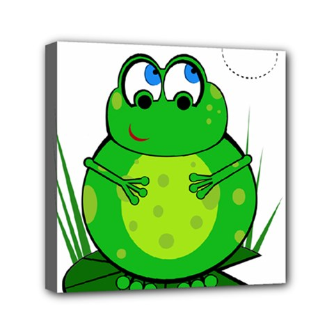 Green Frog Mini Canvas 6  x 6