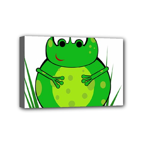 Green Frog Mini Canvas 6  X 4