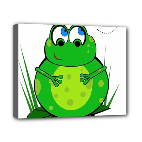 Green Frog Canvas 10  x 8