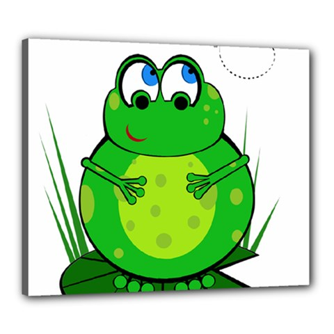 Green Frog Canvas 24  x 20