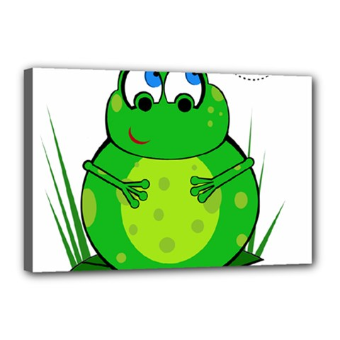 Green Frog Canvas 18  x 12