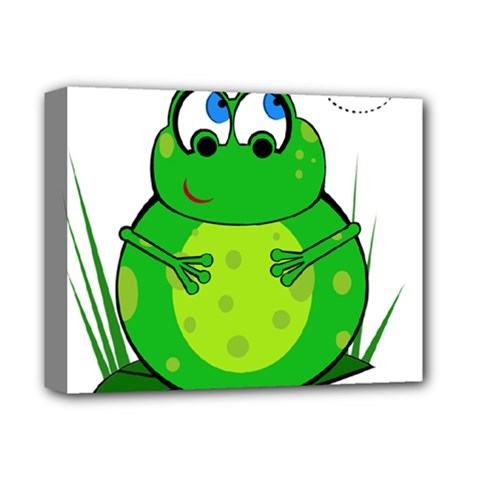 Green Frog Deluxe Canvas 14  X 11