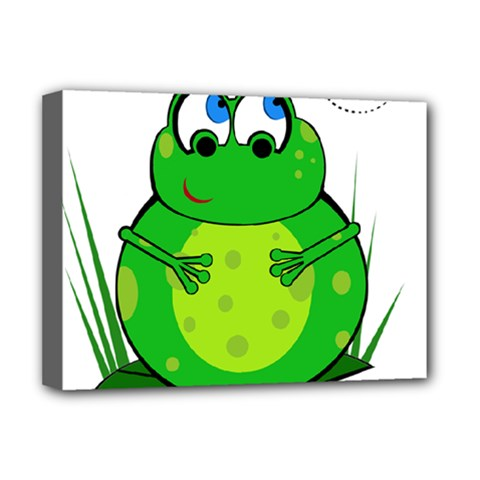Green Frog Deluxe Canvas 16  x 12