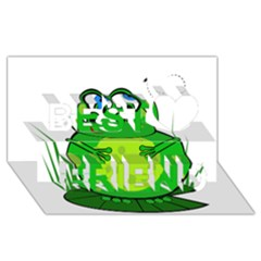 Green Frog Best Friends 3D Greeting Card (8x4)