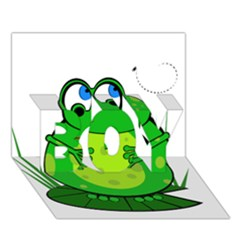 Green Frog BOY 3D Greeting Card (7x5)