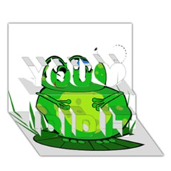 Green Frog You Did It 3D Greeting Card (7x5)