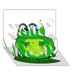 Green Frog You Rock 3D Greeting Card (7x5)