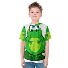 Green Frog Kid s Cotton Tee