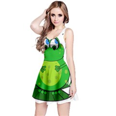 Green Frog Reversible Sleeveless Dress