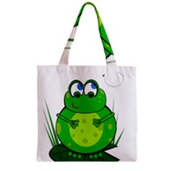 Green Frog Grocery Tote Bag