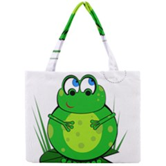 Green Frog Mini Tote Bag