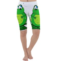 Green Frog Cropped Leggings