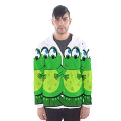 Green Frog Hooded Wind Breaker (Men)