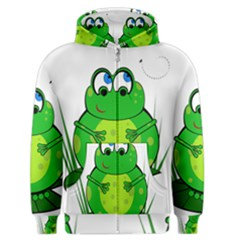 Green Frog Men s Zipper Hoodie