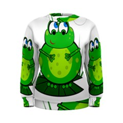 Green Frog Women s Sweatshirt