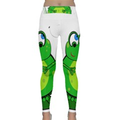 Green Frog Yoga Leggings