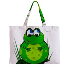 Green Frog Zipper Mini Tote Bag