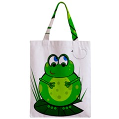 Green Frog Zipper Classic Tote Bag