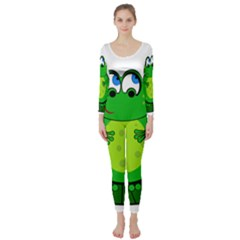 Green Frog Long Sleeve Catsuit