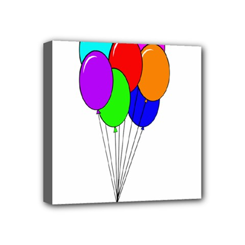 Colorful Balloons Mini Canvas 4  x 4