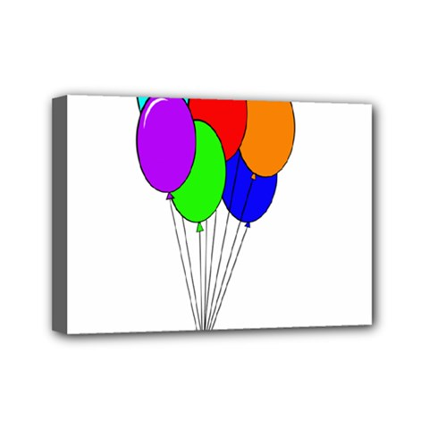 Colorful Balloons Mini Canvas 7  X 5