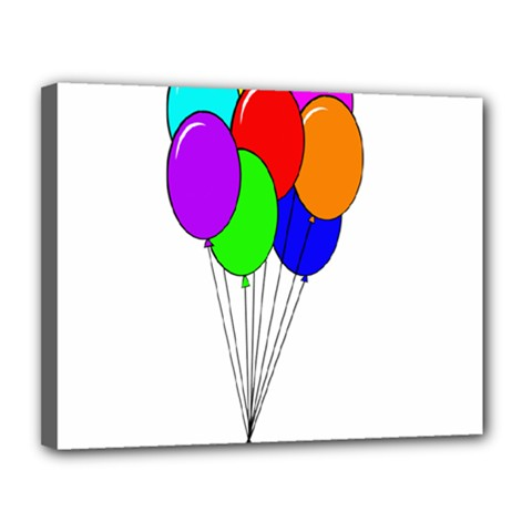 Colorful Balloons Canvas 14  X 11