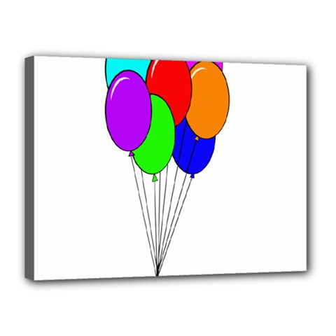 Colorful Balloons Canvas 16  x 12