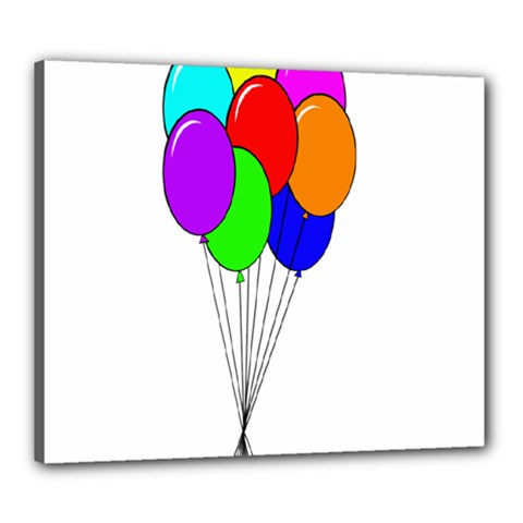 Colorful Balloons Canvas 24  x 20