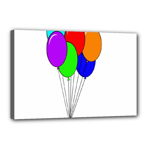 Colorful Balloons Canvas 18  x 12