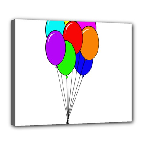 Colorful Balloons Deluxe Canvas 24  x 20