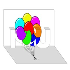 Colorful Balloons I Love You 3D Greeting Card (7x5)
