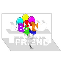 Colorful Balloons Best Friends 3D Greeting Card (8x4)