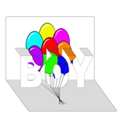 Colorful Balloons BOY 3D Greeting Card (7x5)