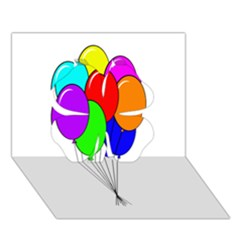 Colorful Balloons Clover 3D Greeting Card (7x5)