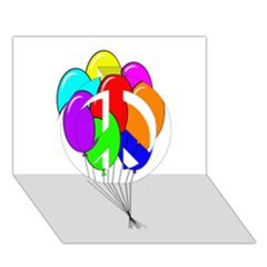 Colorful Balloons Peace Sign 3D Greeting Card (7x5)