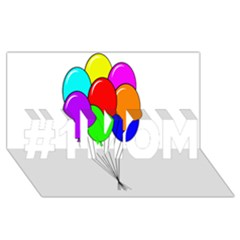 Colorful Balloons #1 MOM 3D Greeting Cards (8x4)