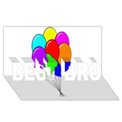 Colorful Balloons Best Bro 3d Greeting Card (8x4)