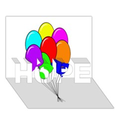 Colorful Balloons Hope 3d Greeting Card (7x5)