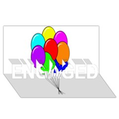 Colorful Balloons Engaged 3d Greeting Card (8x4)