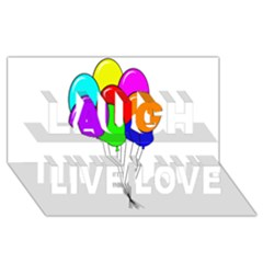 Colorful Balloons Laugh Live Love 3d Greeting Card (8x4)