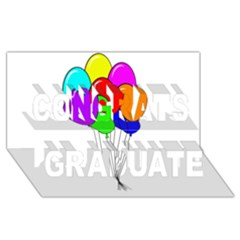 Colorful Balloons Congrats Graduate 3D Greeting Card (8x4)