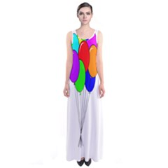 Colorful Balloons Sleeveless Maxi Dress
