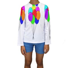 Colorful Balloons Kid s Long Sleeve Swimwear