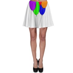 Colorful Balloons Skater Skirt