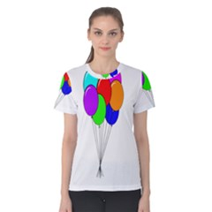 Colorful Balloons Women s Cotton Tee