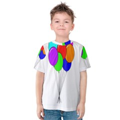 Colorful Balloons Kid s Cotton Tee